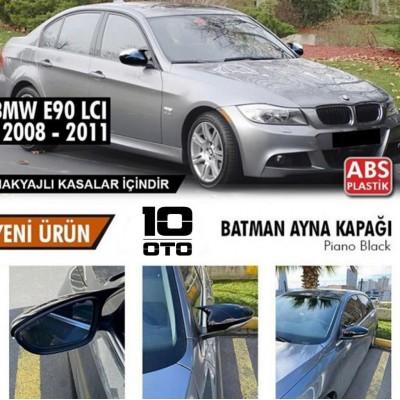 Bmw E90 LCI Yarasa Ayna Kapağı Parlak Siyah 2008-2011 MAKYAJLI KASALAR İÇİN