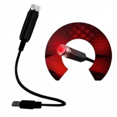 Buffer Kırmızı Ayak Altı Tavan Led Araç içi Aydınlatma Oto Araba İç Disko Ayarlanır USB Lamba Işık