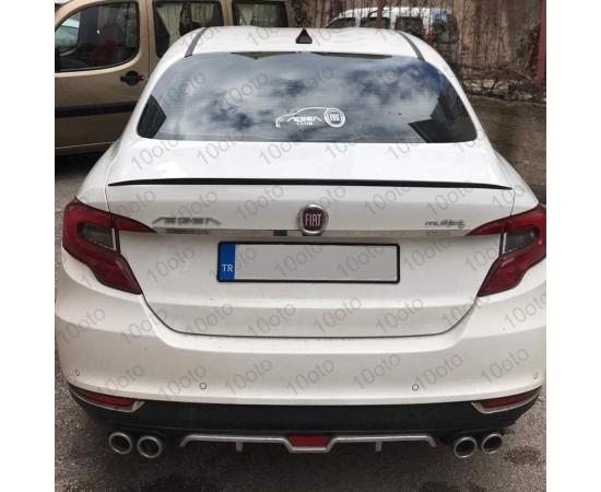 Fiat Egea Difüzör ışıklı Üniversal Plastik 4 Çıkış egzoz Görünüml