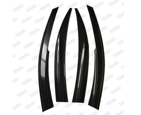 Fiat Tempra Parlak siyah Mugen Cam Rüzgarlığı 4'lü Set