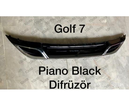 Golf 7-7,5 Difüzör Piano Black Plastik 2 çıkış egzoz görünümlü