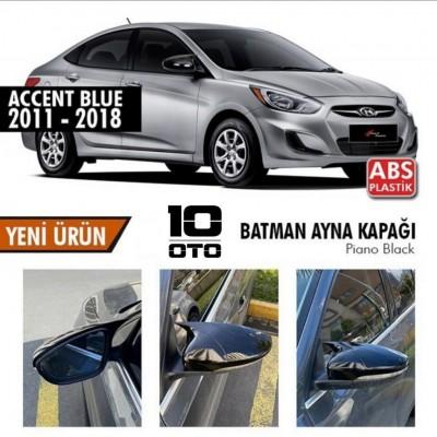 Hyundai Accent Blue Yarasa Ayna Kapağı Parlak Siyah