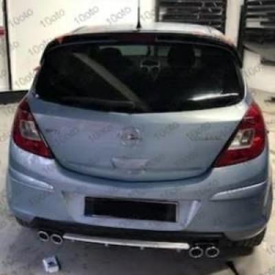 Opel Corsa D Difüzör Plastik 4 çıkış egzoz görünümlü