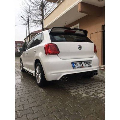 Volkswagen Polo 6R 6C Oettinger Spoiler, 1. sınıf ABS Plastik PIANO BLACK BOYALI