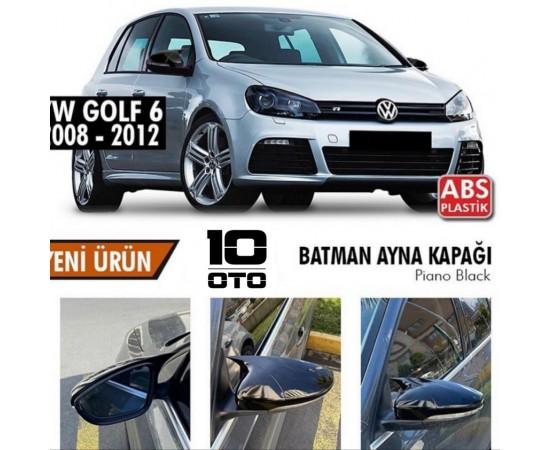 Vw Golf 6 Yarasa Ayna Kapağı Parlak Siyah